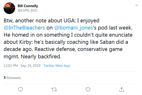Screenshot_2019-09-24 Bill Connelly on Twitter Btw, another note about UGA I enjoyed InTheBleachers on bomani_jones's pod l[...]