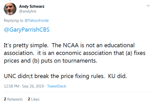 Screenshot_2019-09-26 Andy Schwarz on Twitter YahooForde GaryParrishCBS It's pretty simple The NCAA is not an educational a[...]