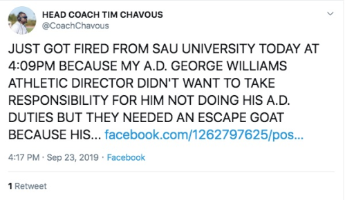 Screenshot_2019-09-26 First of the year College football head coach tweets he was fired