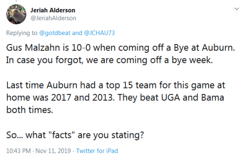 Screenshot_2019-11-13 Jeriah Alderson on Twitter gotdbeat JCHAU73 Gus Malzahn is 10-0 when coming off a Bye at Auburn In ca[...]