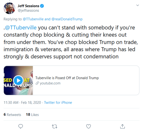 Screenshot_2020-02-18 Jeff Sessions on Twitter TTuberville realDonaldTrump TTuberville you can't stand with somebody if you[...]