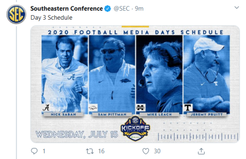 Screenshot_2020-02-20 Southeastern Conference on Twitter cfbhall Day 1 Schedule https t co TkPULnT82A Twitter(2)