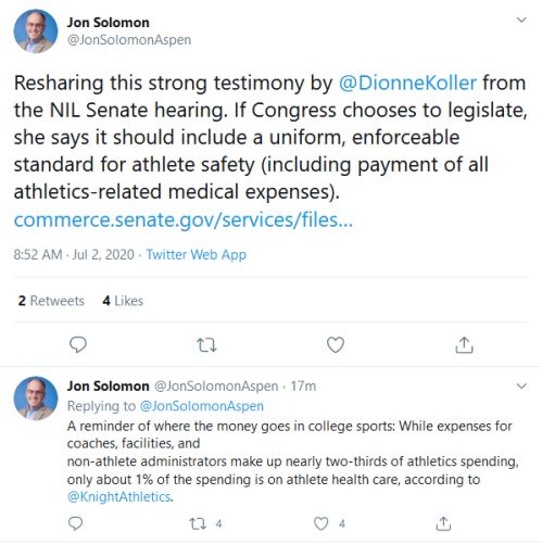 Screenshot_2020-07-02 Jon Solomon on Twitter Resharing this strong testimony by DionneKoller from the NIL Senate hearing If[...]