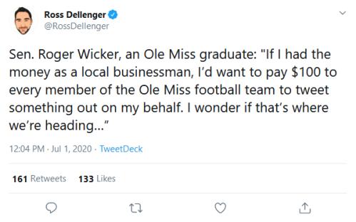 Screenshot_2020-07-02 Ross Dellenger on Twitter Sen Roger Wicker, an Ole Miss graduate If I had the money as a local busine[...]