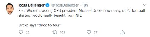 Screenshot_2020-07-02 Ross Dellenger on Twitter Sen Wicker is asking OSU president Michael Drake how many, of 22 football s[...]