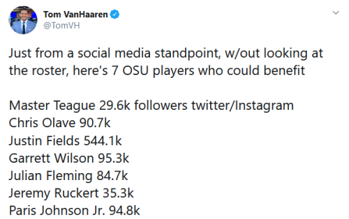 Screenshot_2020-07-02 Tom VanHaaren on Twitter Just from a social media standpoint, w out looking at the roster, here's 7 O[...]