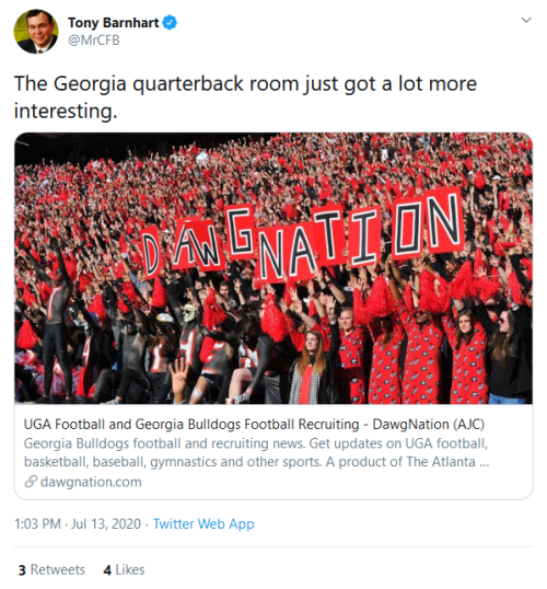 Screenshot_2020-07-13 Tony Barnhart on Twitter The Georgia quarterback room just got a lot more interesting https t co xksi[...]