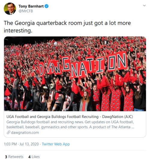 Screenshot_2020-07-13 Tony Barnhart on Twitter The Georgia quarterback room just got a lot more interesting https t co xksi[...]