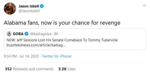 Screenshot_2020-07-15 Jason Isbell on Twitter Alabama fans, now is your chance for revenge Twitter