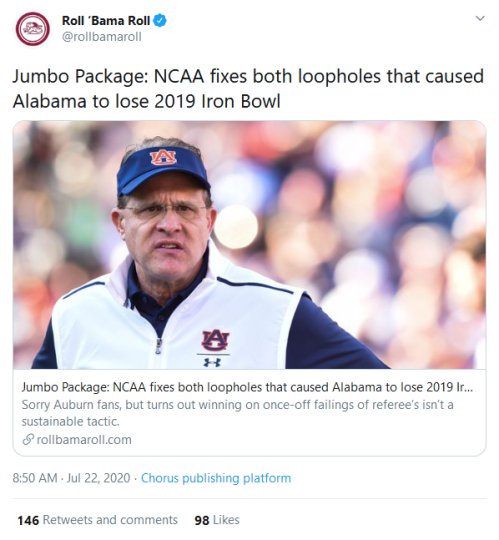 Screenshot_2020-07-22 Roll 'Bama Roll on Twitter Jumbo Package NCAA fixes both loopholes that caused Alabama to lose 2019 I[...]