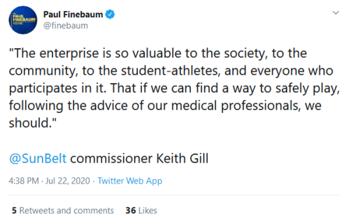 Screenshot_2020-07-23 Paul Finebaum on Twitter The enterprise is so valuable to the society, to the community, to the stude[...]