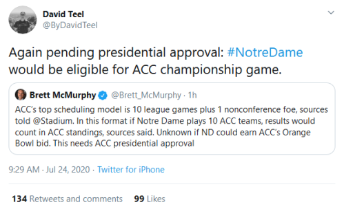 Screenshot_2020-07-24 David Teel on Twitter Again pending presidential approval #NotreDame would be eligible for ACC champi[...]