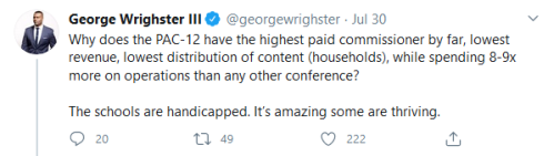 Screenshot_2020-08-03 George Wrighster III on Twitter Why does the PAC-12 have the highest paid commissioner by far, lowest[...]