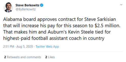 Screenshot_2020-08-06 Steve Berkowitz on Twitter Alabama board approves contract for Steve Sarkisian that will increase his[...]