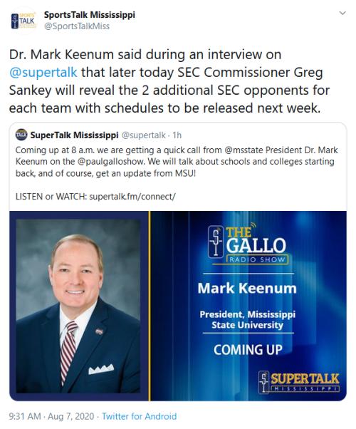 Screenshot_2020-08-07 SportsTalk Mississippi on Twitter Dr Mark Keenum said during an interview on supertalk that later tod[...](2)