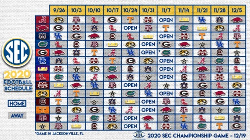 Screenshot_2020-08-18 Southeastern Conference on Twitter Here it is the 2020 #SECFB Schedule ⤵️ https t co BTyrFLiaWC Twitter